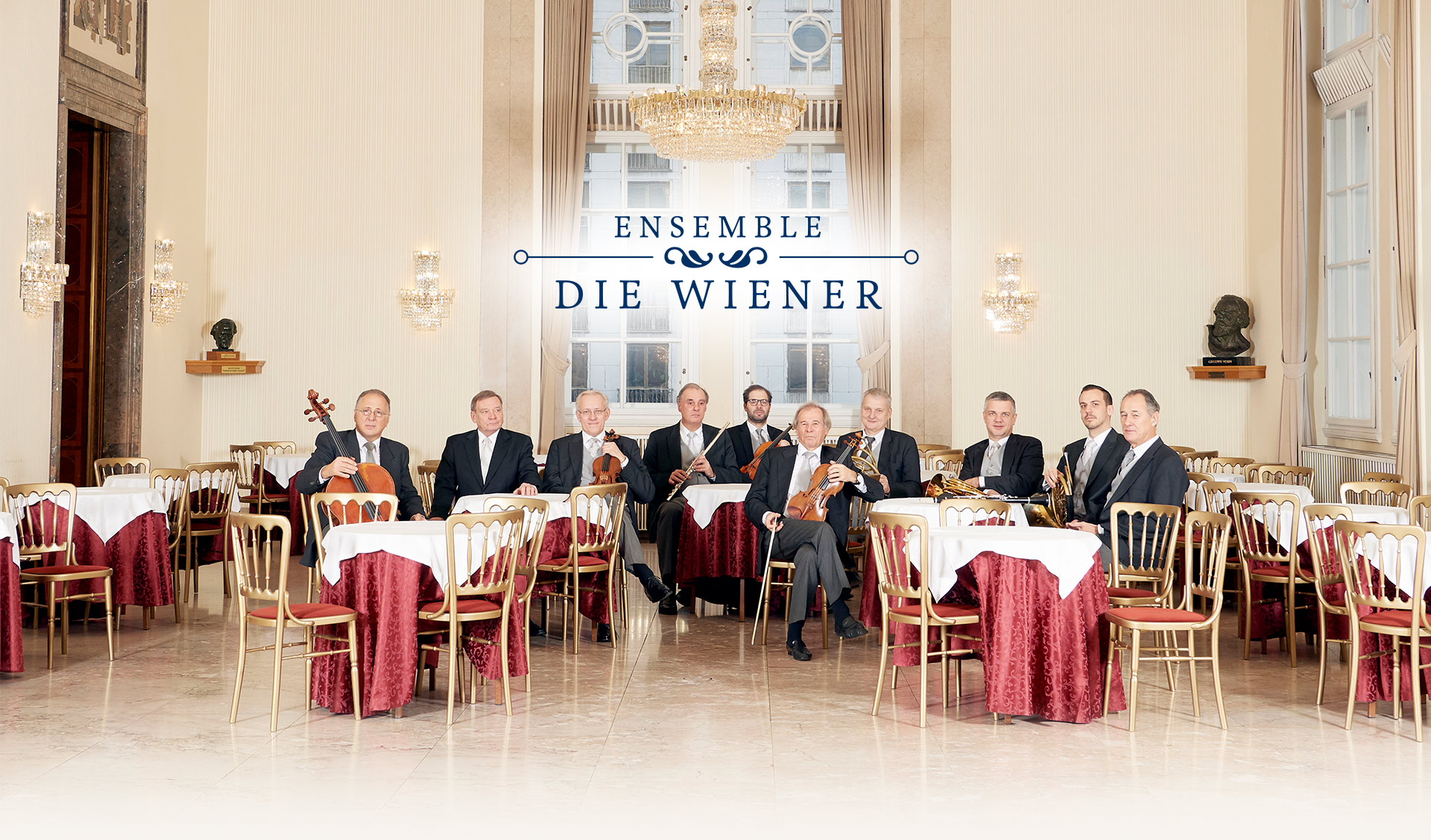 Die Wiener das Ensemble: Titelbild mit allen Musikern